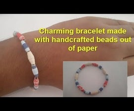 Charming Bracelet for Your Girlfriend Made With Handcrafted Beads Out of Paper