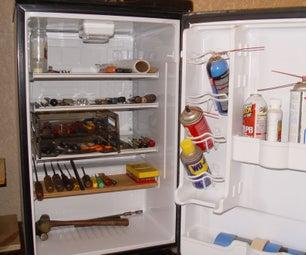 Mini Fridge to Shop Cabinet