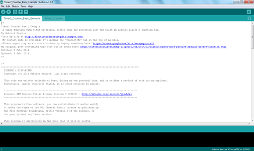 Open the Example File in Your Arduino IDE