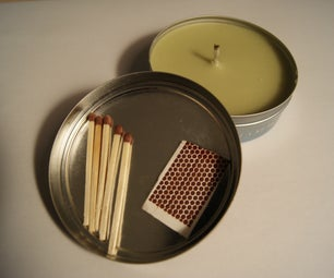 Simple *altoids* Tin Emergency Candle