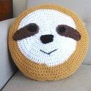 Crochet a Huggable Sloth Cushion