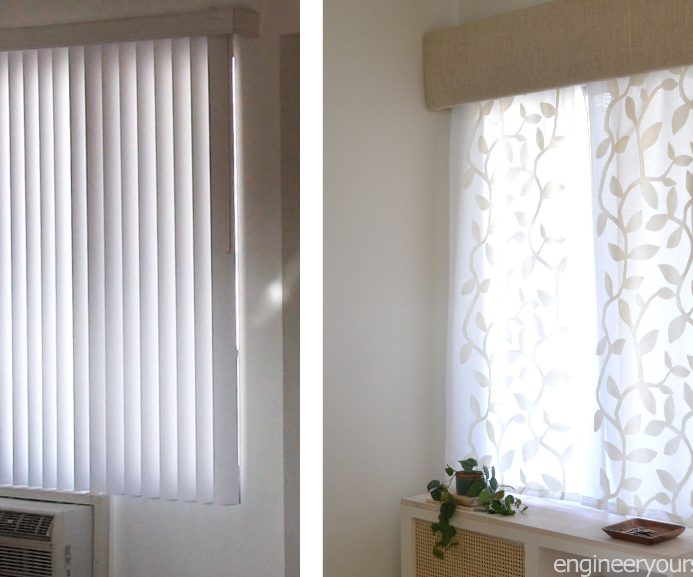 Easy Way to Replace Vertical Blinds With Curtains