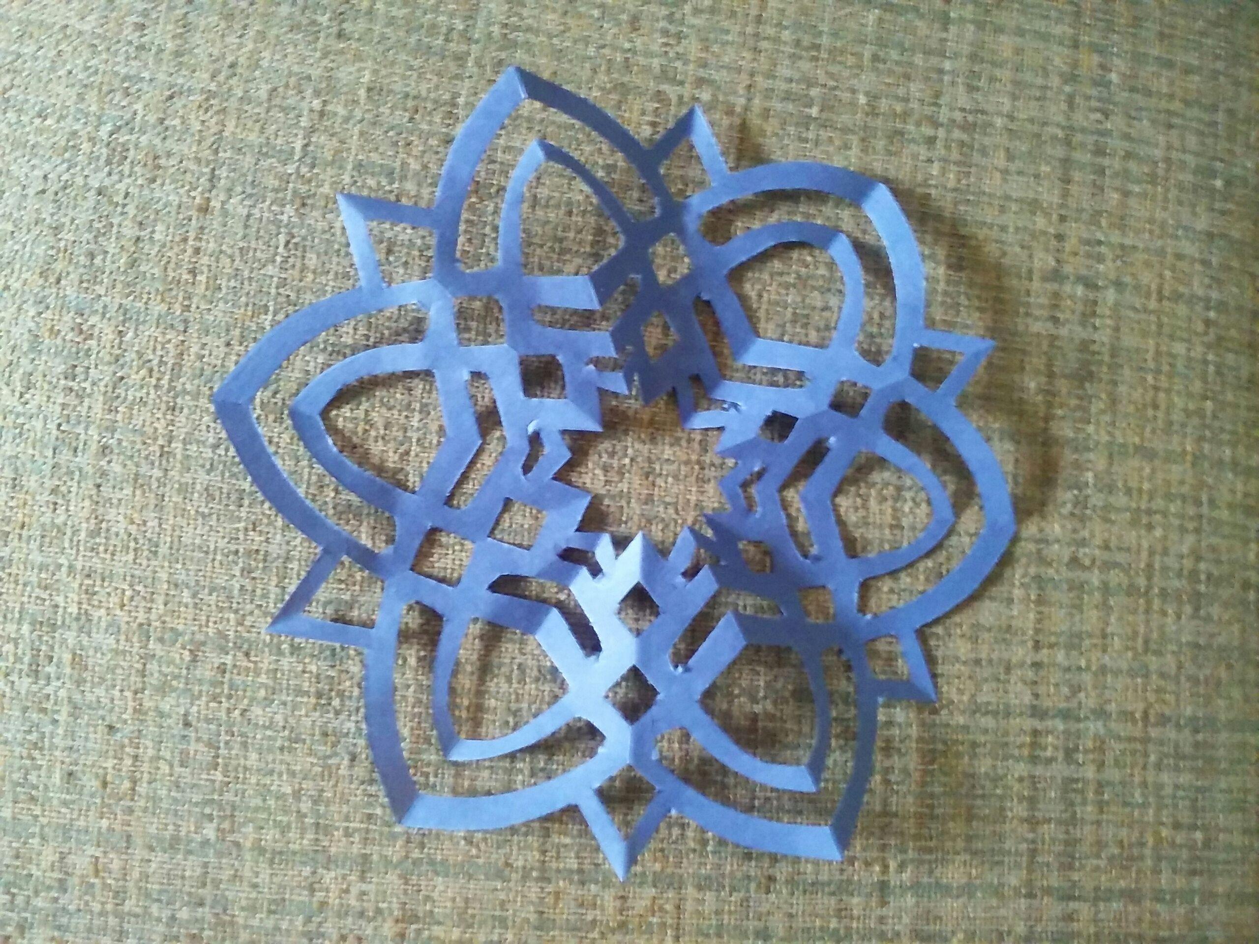 Paper Snowflake:Queens Crystal