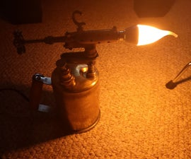 Vintage Torch Lamp Restoration