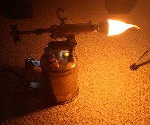Vintage Torch Lamp Restoration