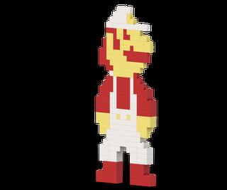 How to Make a Retro Lego SMB Fire Mario Using LEGOs - Build Instructions