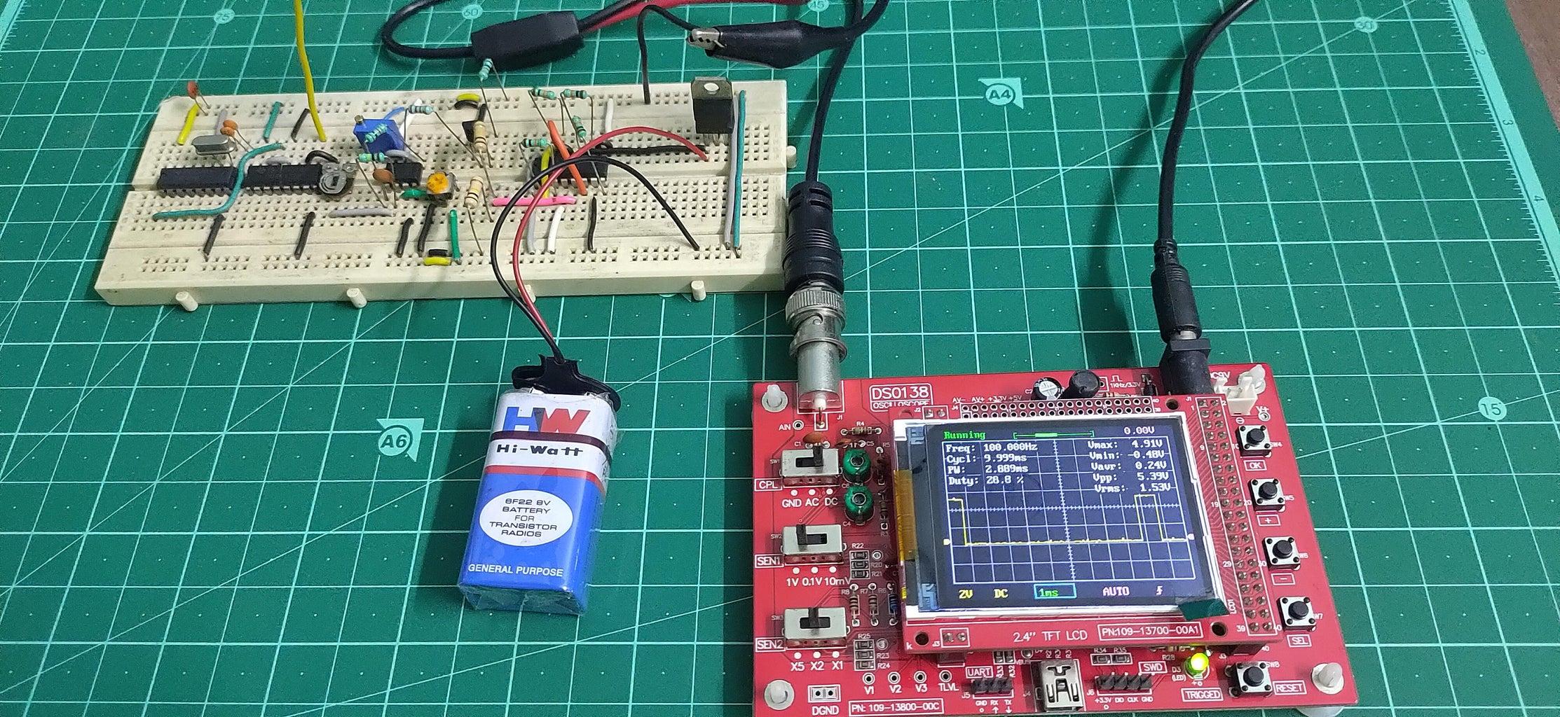 Testing the Circuit on Breadbord