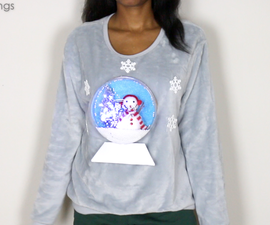 DIY 3D Light Up Snow Globe Ugly Christmas Sweater