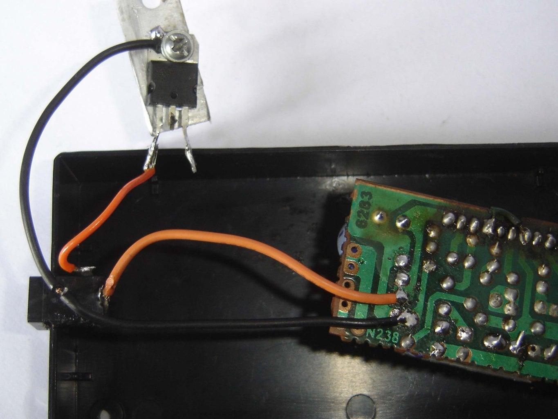 Add 7805 Voltage Regulator