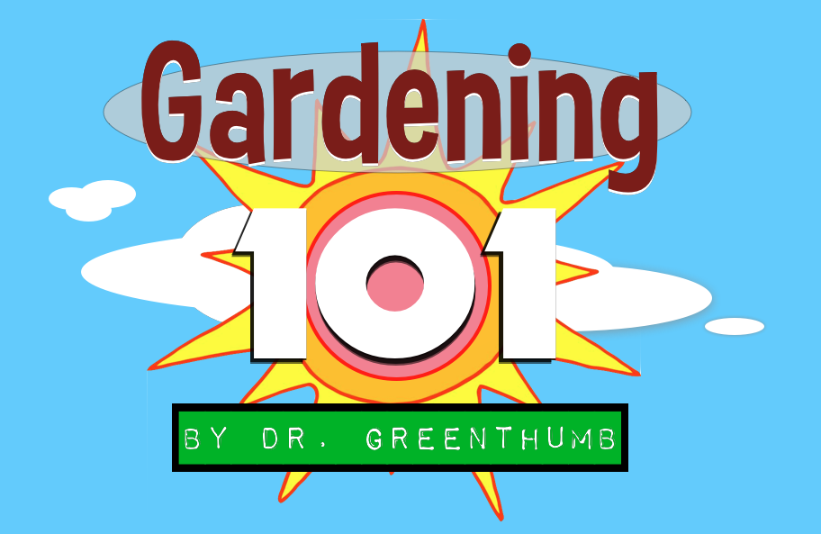 """Gardening 101 by Dr. Greenthumb """"How to grow a garden"""""""