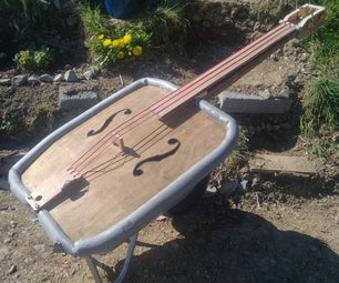 3-string Wheelbarrow Upright Bass