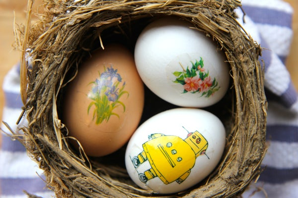 Mess Free Easter Eggs