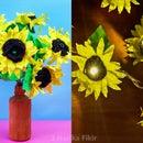 DIY Sunflower Room Decor and Light