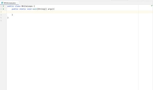 Create an Empty Java Class With a Main Method