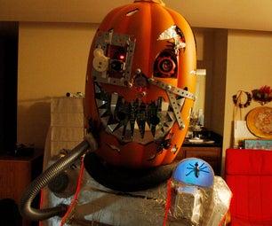 Mutant Cyborg Pumpkin Halloween Costume V1.3