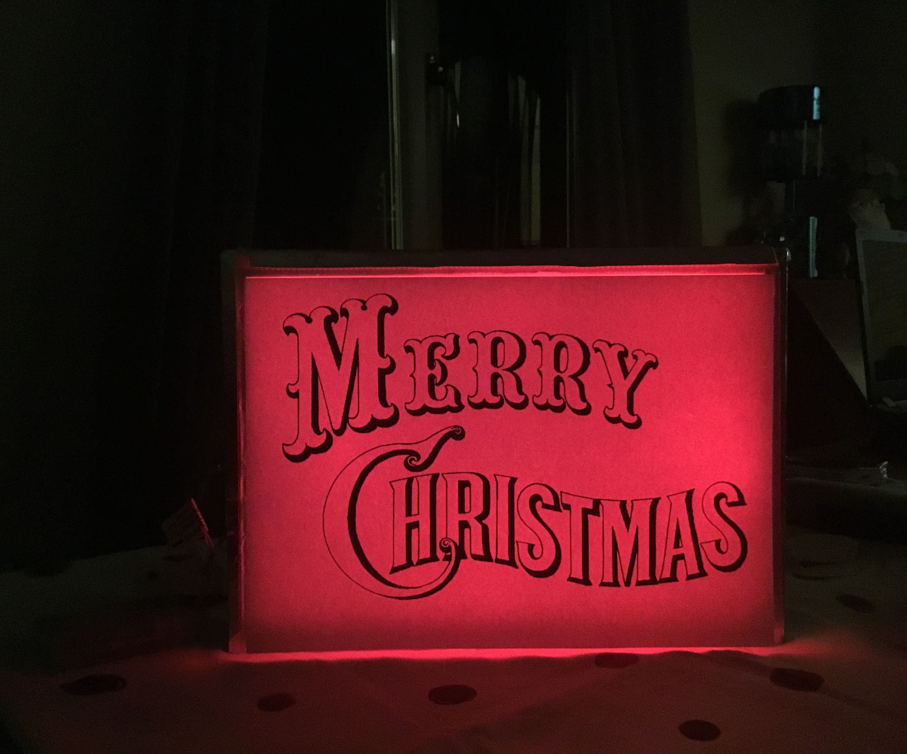 Customisable Light Up Sign