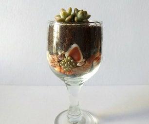 Mini Wine Glass Pot