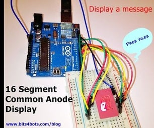 Message on an Alphanumeric Display| Arduino