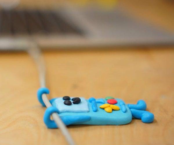 Adventure Time Sugru BMO Cable Holder