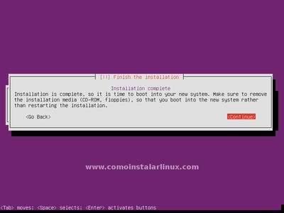 Configure Database and Finish Install