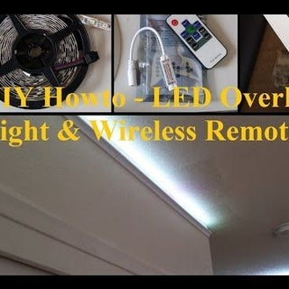 DIY Howto Install LED Overhead Light With Wireless Remote