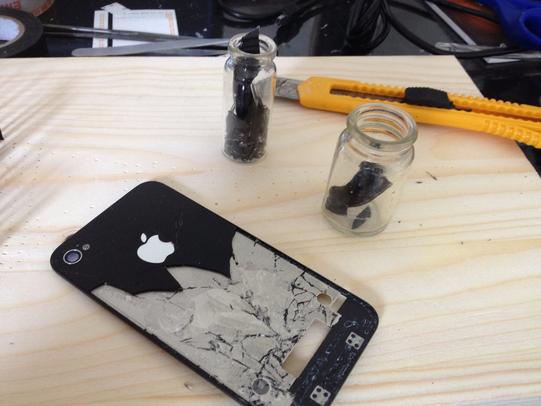 Cracked Back Glass
