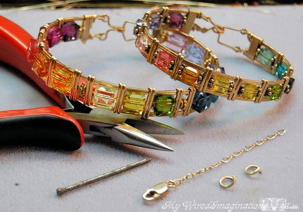 Adding Safety Chain to a Wire Wrapped Bracelet