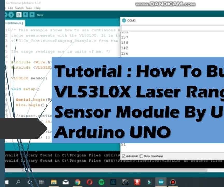 Tutorial: How to Build a VL53L0X Laser Ranging Sensor Module by Using Arduino UNO