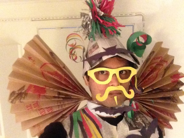 Halloween Costume: PAPER(Craft) MAN [Cost: $0.00, Recyclable, Environment Friendly]