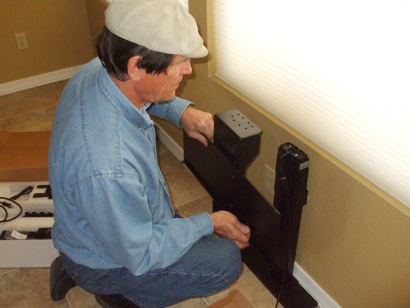 Install the TV Mount and the Control Box