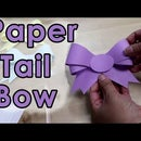 How to Make Paper Tail Bow