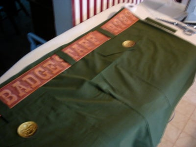 Measure and Cut Material for Pants