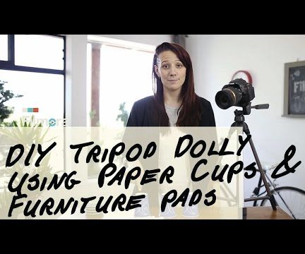 DIY Tripod Dolly Using Paper Cups & Furniture Sliders