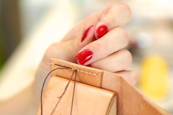 How to Saddle Stitch Leather