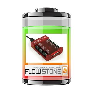 Battery Manager Using Labjack U3 and FLOWSTONE.