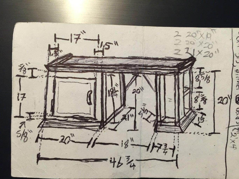 Plan, Materials, Cuts, and Measurements