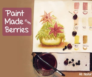 Paint Made From Berries & Nature