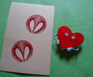 Silk Thread Valentine's Card