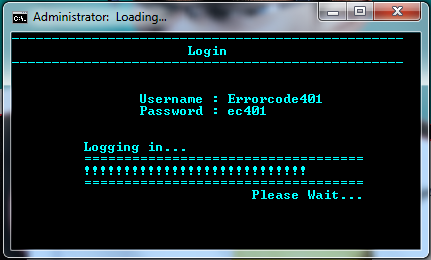 Simple Batchfile Login System with Loading Bar