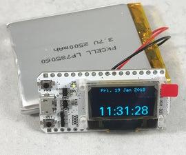 WiFi Kit 32 NTP Clock