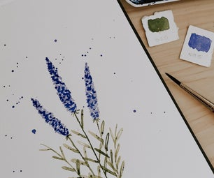 How to Paint a Beautiful Watercolor Lavender