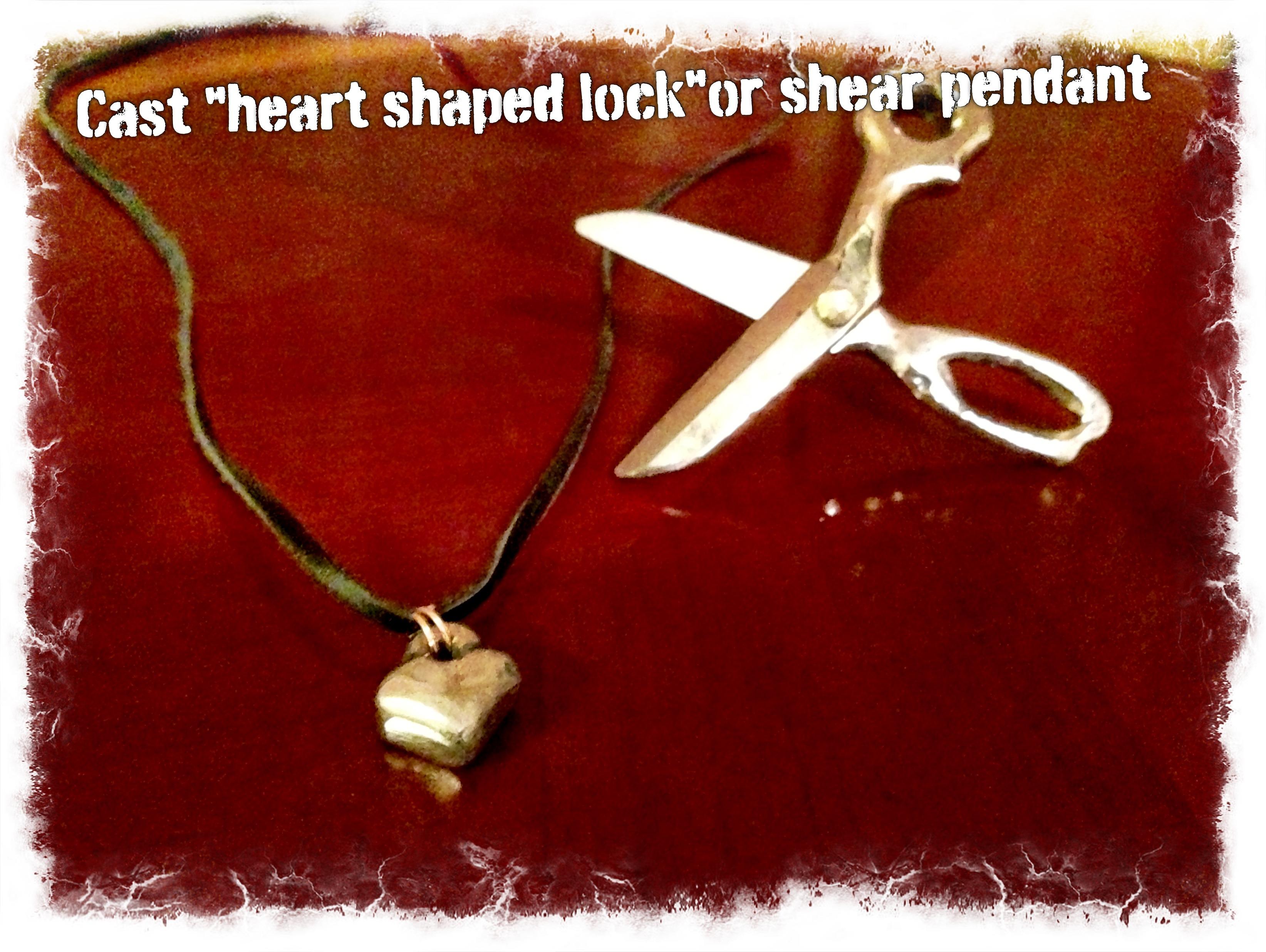 "Make A ""heart Shaped Lock"" Or Scissors Pendant"