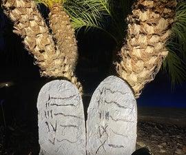 Concrete 10 Commandments Tablets
