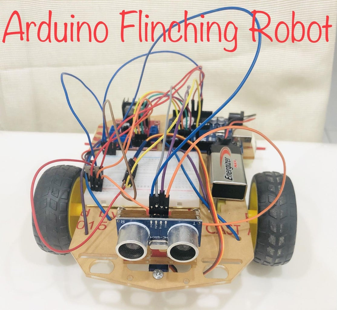 Arduino Obstacle Avoiding Robot Using an L298N Motor Driver