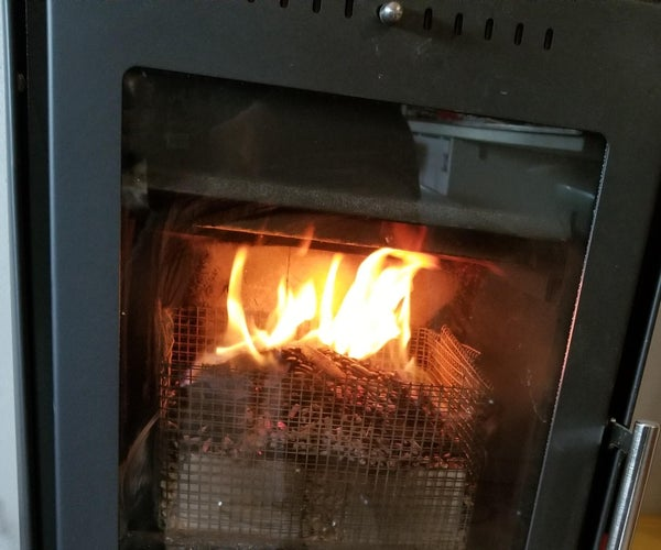 Fuel Pellet Adapter for a Wood-burning Fireplace (or Stove)
