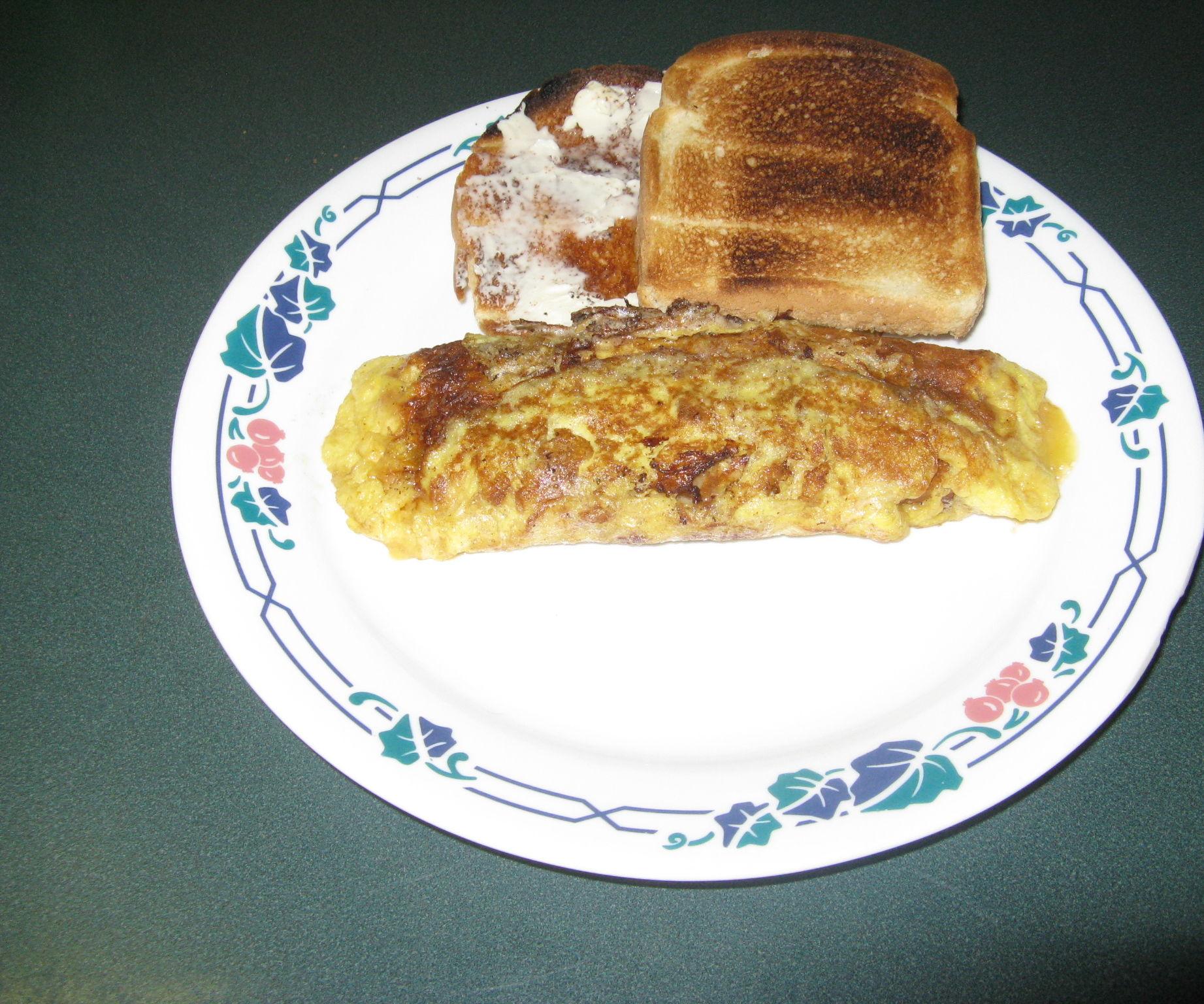The Best Wild Mushroom Omelet