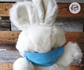 DIY Doll/Stuffed Animal Face Mask From T-Shirt Sleeves & Scrap Ribbon