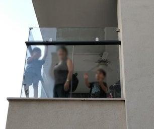 阳台栏杆高度延伸带玻璃-儿童安全| DIY