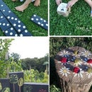 Yard games made from recycled wood