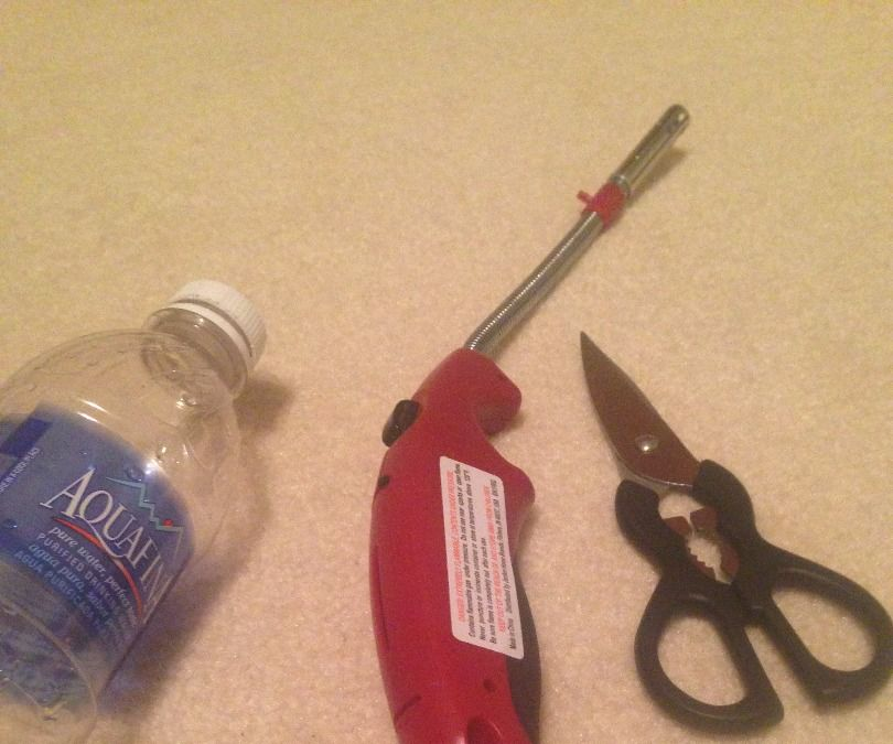 Fish hook from plastic bottle and 2 tools